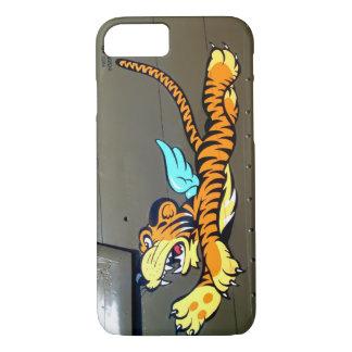 Arte de la nariz del tigre del vuelo (fuselaje del funda iPhone 7