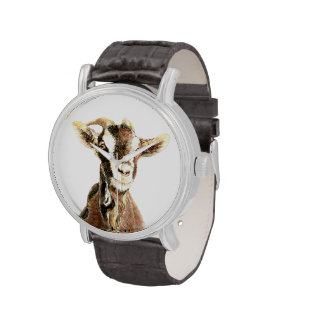 Arte de la naturaleza del animal del campo de la d relojes de pulsera
