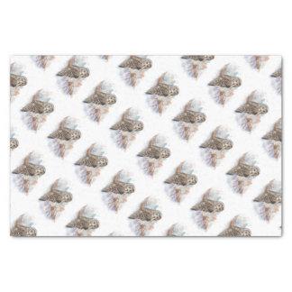 Arte de la naturaleza del pájaro del búho de gran papel de seda pequeño