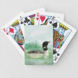 Arte de la naturaleza del pájaro del lago wilderne cartas de juego