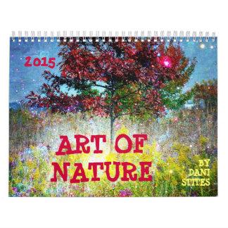 Arte de la naturaleza por el calendario de Dani