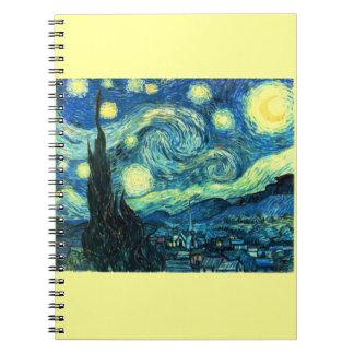 Arte de la noche estrellada cuaderno