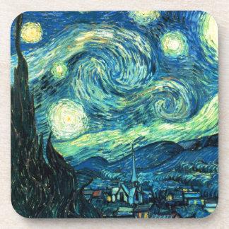 Arte de la noche estrellada posavasos de bebida