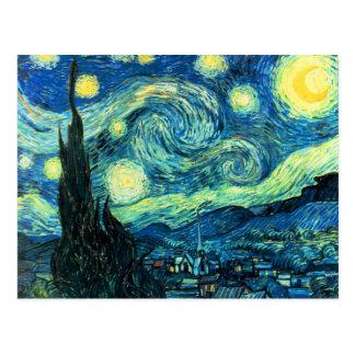 Arte de la noche estrellada postales
