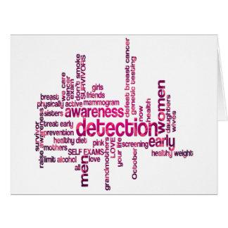 Arte de la nube de la conciencia del cáncer de tarjeta de felicitación grande