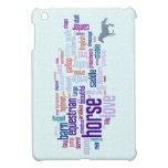 Arte de la nube de la palabra del amor del caballo iPad mini coberturas