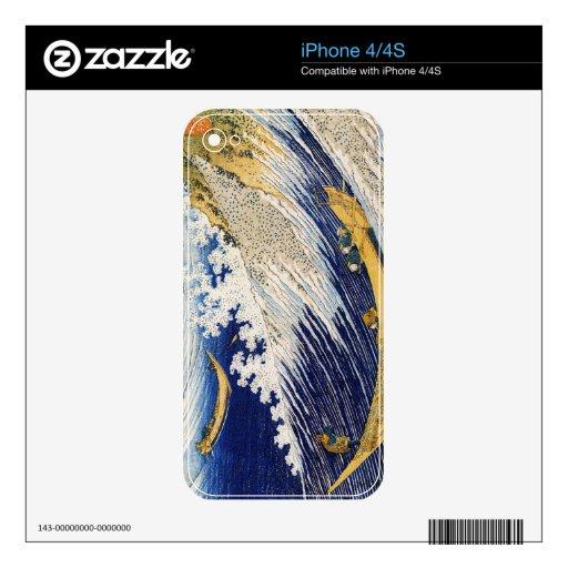 Arte de la obra maestra de Katsushika Hokusai de l Skin Para El iPhone 4