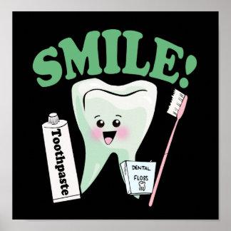 Arte de la oficina del dentista de la sonrisa impresiones