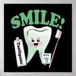 Arte de la oficina del dentista de la sonrisa póster