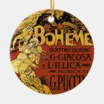 arte de la ópera adorno navideño redondo de cerámica