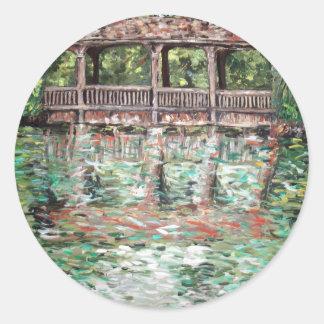 arte de la original del parque de los greynolds pegatina redonda