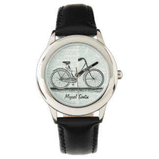 Arte de la página del diccionario de la bicicleta relojes de pulsera