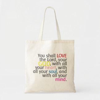 Arte de la palabra - ame a dios con alma de la men bolsa tela barata