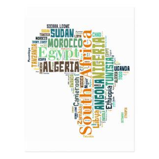 Arte de la palabra de África Tarjetas Postales