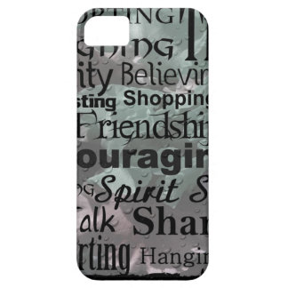 Arte de la palabra de la amistad iPhone 5 Case-Mate cobertura