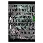 Arte de la palabra de la amistad pizarras blancas