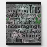Arte de la palabra de la amistad placas con fotos