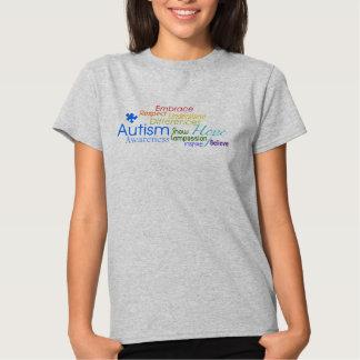 Arte de la palabra de la conciencia del autismo poleras
