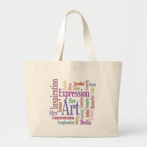 Arte de la palabra de la inspiración del artista c bolsa tela grande