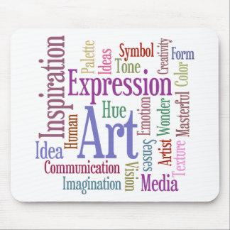 Arte de la palabra de la inspiración del artista c tapetes de raton