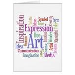 Arte de la palabra de la inspiración del artista c tarjetas