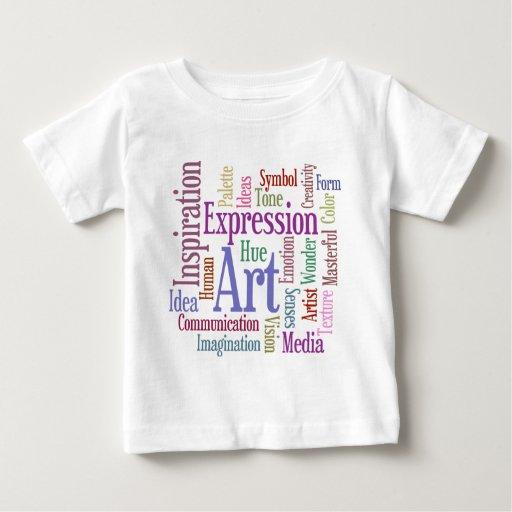 Arte de la palabra de la inspiración del artista t shirt