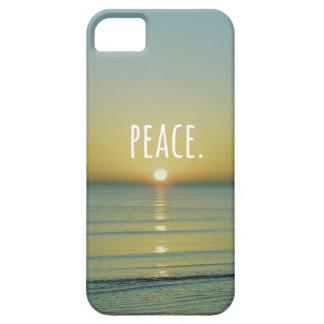 Arte de la palabra de la playa de la paz funda para iPhone SE/5/5s