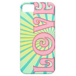 Arte de la palabra del amor - resplandor solar funda para iPhone SE/5/5s