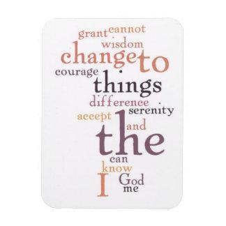 Arte de la palabra del rezo de la serenidad imán flexible