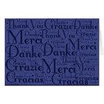 Arte de la palabra: Gracias en idiomas multi - azu Tarjeton