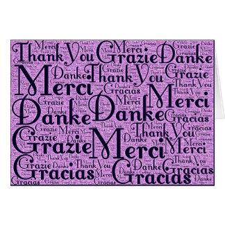 Arte de la palabra: Gracias en idiomas multi - mar Tarjeta