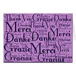 Arte de la palabra: Gracias en idiomas multi - Tarjeta