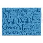 Arte de la palabra: Gracias en idiomas multi - Tarjeta Pequeña