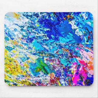 Arte de la paleta de colores alfombrilla de ratones