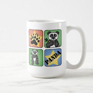 Arte de la panda tazas de café