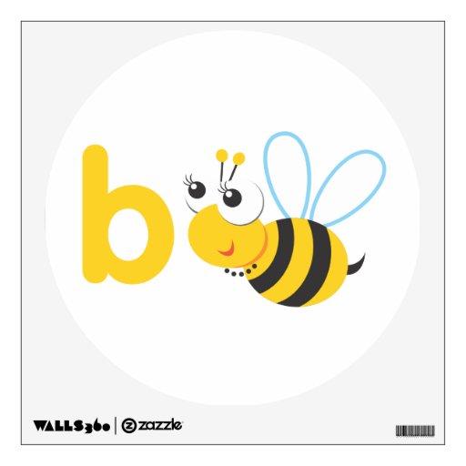 Arte de la pared - animales de ABC - abeja Vinilo Adhesivo
