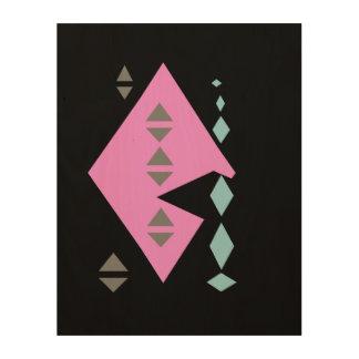 Arte de la pared de Futuristik (rosa cosquilleado) Cuadro De Madera