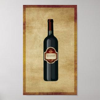 arte de la pared de la botella de vino 6X10 Impresiones