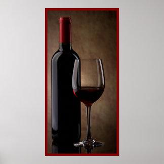 arte de la pared de la copa de vino 10x20 y de la  póster
