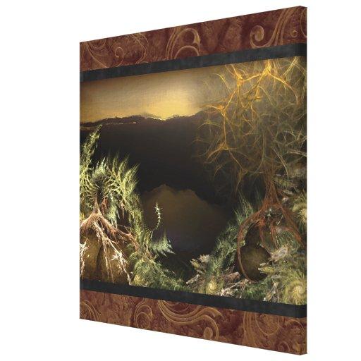 Arte de la pared de la lona de la salida del sol d impresiones en lona