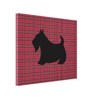 Arte de la pared de la tela escocesa de Terrier Impresión En Lienzo Estirada