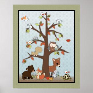 Arte de la pared de los amigos del bosque impresiones