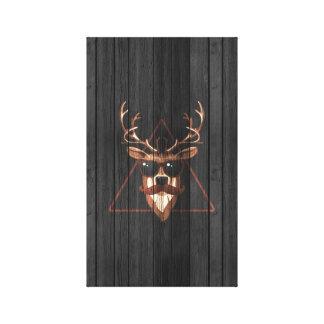 Arte de la pared de los ciervos del bigote del lienzo envuelto para galerias