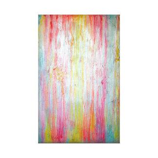 Arte de la pared de los colores en colores pastel lona envuelta para galerias