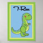 arte de la pared de los dinosaurios de 5X7 T-Rex Póster