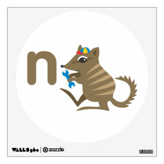 Arte de la pared de los niños - animales - Numbat