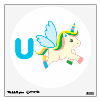 Arte de la pared de los niños - animales - unicorn
