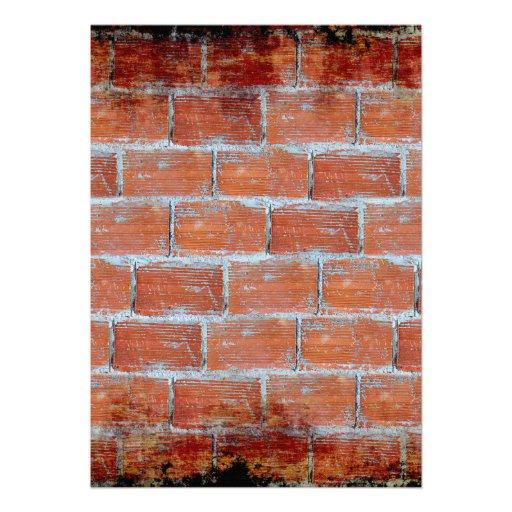 Arte de la pared de piedra invitación