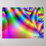 arte de la pared del acento del arco iris 3d de Ha Poster