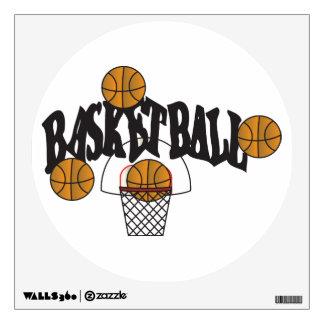 Arte de la pared del baloncesto vinilo